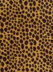 LEOPOLD BRONZE 62% Viscos 21% Cotton 17% Poly. Reversible cheetah chenille tapestry.  $38.95 per yard