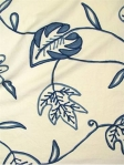 CHENNAI PORCELAIN 100% cotton fabric with embroidery. Multi purpose. $ 35.99 per yard