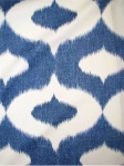 DALESFORD DENIM Duralee Fabric 55% Linen 45% Cotton, Multi purpose ikat print.  $32.95 per  yard