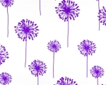 DANDELION WHITE/CANDY PURPLE TWILL 100% cotton $19.95 per yard
