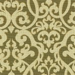 EVENING SCROLL BARK 89% cotton 11% rayon damask print Multi purpose. $29.95 per yard