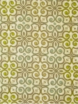 INTERLOCKED GREEN TEA Moorish Modern Collection. 100% heavy cotton sateen multi purpose fabric. $27.95 per yard