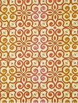 INTERLOCKED MANGO Moorish Modern Collection  100% heavy cotton sateen multi purpose fabric. $27.95 per yard