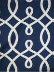 LOOP de LOOP NAVY Duralee Fabric lattice pattern. 55% Cotton 45% Linen. Multi purpose. $32.95 per yard