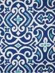 NEW DAMASK MARINE Robert Allen Ikat print fabric. 100% cotton. $26.95 per yard