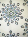 PAVO PEACOCK Ikat print fabric, 55% linen, 45% rayon, multipurpose, $46.99 per yard