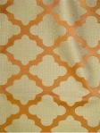 ELLEN ORANGE Jacquard damask multi purpose decorator fabric. Linen weave with satin trellis pattern. 100%poly $26.95 per yard